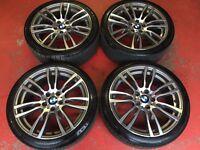 19'' GENUINE BMW 3 SERIES F30 F31 F32 404 STYLE 4 M SPORT E90 ALLOY WHEELS TYRES
