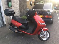 Peugeot Vivacity 3 Sixties 125; 124cc Scooter, Red, July 2012 first reg