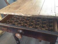 A small Victorian dining table