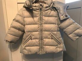 Genuine diesel baby boy grey coat hood 3 months £179