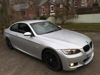 "2007 BMW 325i E92 Coupe Silver FSH 12 months mot * 18"" csl alloys * lowered * 320 318 330 d 3 series"