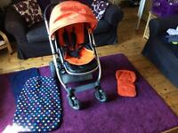 Oyster pushchair, carrycot, car seat