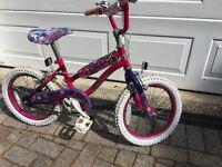 Girls pink bicycle