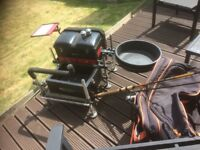 Fishing seatbox, and accessories.