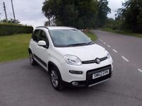 2012 62 FIAT PANDA 1.0 4X4 TWINAIR IN WHITE WITH HALF CREAM LEATHER AND BLACK INTERIOR