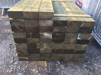 New Wooden Pressure Treated Sleepers
