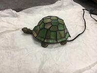 Green tortoise Tiffany lamp