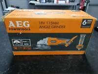 AEG angle grinder