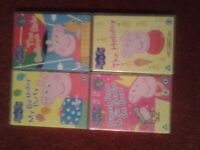6 x Peppa Pig DVD's for sale.