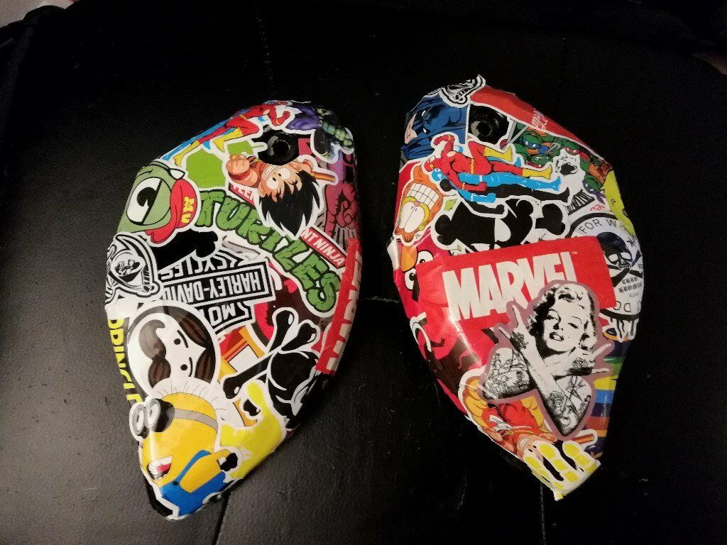 sticker bombed Air box covers mk1 Bandit 600