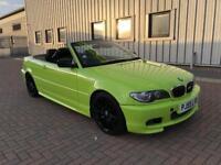 2005 55, E46 BMW 325CI MSPORT CONVERTIBLE AUTO FACELIFT, 114K MILES, 5M MOT, HIGH LIGHTER GREEN