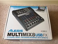Alesis Multimix 8 USB FX 8 Channel Mixer / Recording Interface with Effects