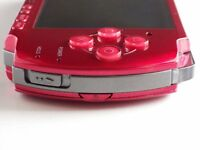 PSP 3000 Console Radiant Red Handheld System with Original Battery