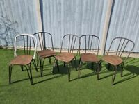 Cult Furniture Rustic Metal Dining Chairs X5