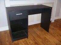 black MDF dresser with drawer