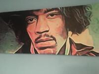 Hendrix Print in Canvas