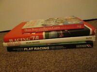 Collection of 4 Sport Books Horse Racing Flat Great Races Humour Stories Lot