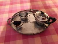 Silver plated silver service