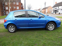 PEUGEOT 307 1.6 HDI DIESEL 2005 MOT APRIL 2018 CHEAP ROAD TAX-ALLOY WHEELS AIR CON CD PLAYER