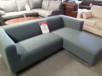 Corner sofa in material Gray