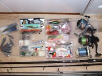 Rods, Reels, lures and weights