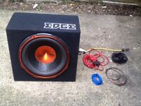 "900W EDGE 12"" Active Subwoofer / Enclosure Sub Boom Box & Amplifer"