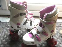 Girls quad roller skates size 2 - Phoenix SFR