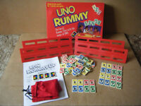 (UNO RUMMY) Tile game. Spears games 1993. Excellent condition. Downloaded Rules.
