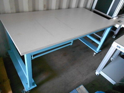 36 X 72 X 34.5 Tall Laminated Top Lab Work Tablebench On Castors With Drawer