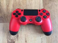 PS4 OFFICIAL MAGMA RED CONTROLLER - EXCELLENT CONDITION PAD