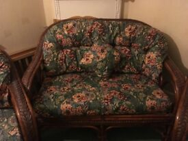 Two seater and two matching arm chairs in Excellent condition must be seen to be appreciated