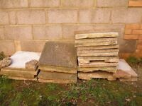 18 used patio slabs