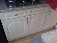 kitchen unit cream colour in used condition