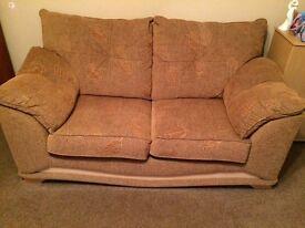 Lovely mocha 2 X 2 seater sofas