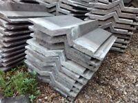 Redland Delta grey concrete roof tiles / slates