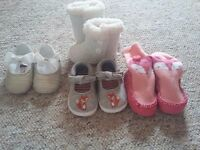 Selection of baby girl footwear