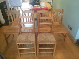 Six dining chairs CLAPHAM JUNCTION