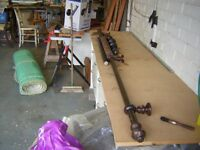 "8ft 10"" wooden curtain pole"