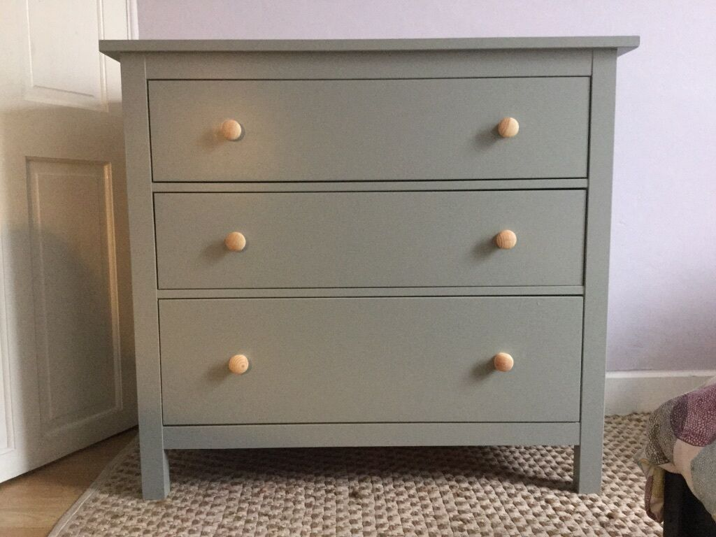 Upcycled ikea hemnes chest of 3 drawers in roath for Ikea bedroom furniture dressers