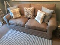 New John Lewis large sofa finished in natural colour and aqua guard finish