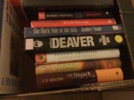 Books, hardback, adult reading.