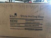 Heavy Duty White Kite Mailing Sacks