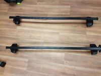 thule roof bars and footpack assembled scenic grand 2009-2012