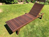 Wooden Sunbed with 5 position adjustable back rest