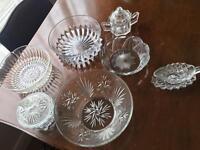 Various vintage glassware