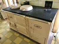 Aga Standard Oil Two Oven with Separate Boiler in Classic Cream