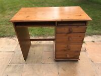 Solid Pine Study Desk