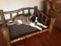 Dog Bed Frame: Log Home style