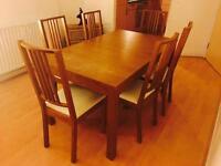 Hardwood Dining Set