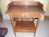 A lovely authentic vintage wooden washstand, cabinet or dressing table, with drawer